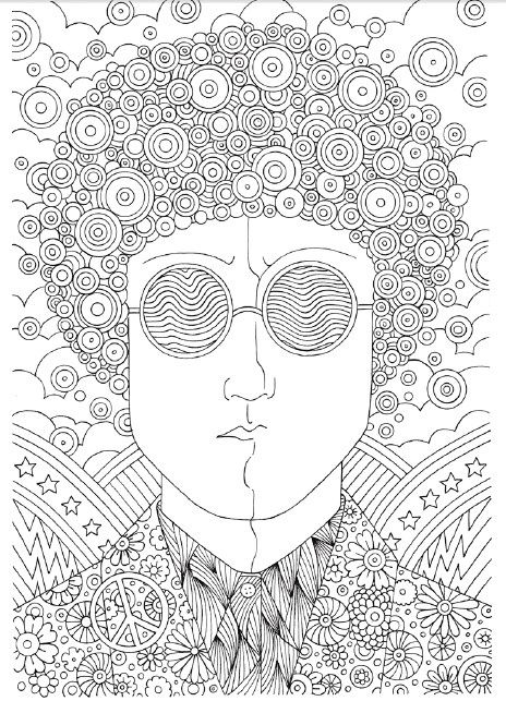 Coloring Page For Adults 60s Coloring Books Coloring Pages Printable Coloring Pages