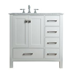 Fine Newport White 36 Inch Single Sink Bathroom Vanity With Home Interior And Landscaping Ologienasavecom