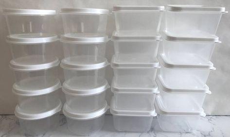 Dollhouse Miniature 20 Rectangle Ceramic White Plates Dish 2cm Kitchenware 3387