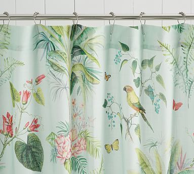Lia Palm Shower Curtain Tropical Shower Curtains Vinyl Shower