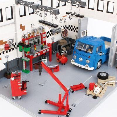 Garage Life Oldtimer Volkswagen Service And Repair Workshop Lego Garage Design Volkswagen