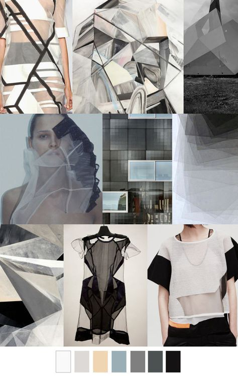 #PatternCurator on #WeConnectFashion, Translucent Geometry, #trendboard.
