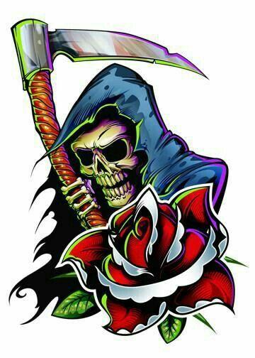 Ripped Torn Metal Look Design Tattoo Style Skull /& Red Roses vinyl car sticker