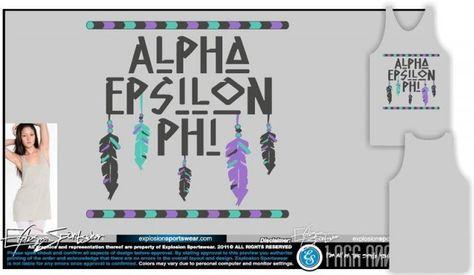 Alpha Epsilon Phi Tribal Themed Shirt Chevrons Awesome Colors