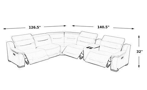Stupendous Sofia Vergara Gallia White Leather 6 Pc Dual Power Reclining Machost Co Dining Chair Design Ideas Machostcouk