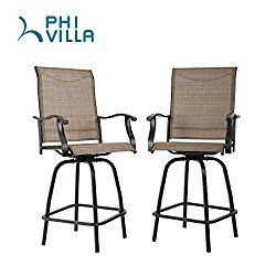 Excellent Phi Villa Swivel Bar Stools All Weather Patio Furniture Set Andrewgaddart Wooden Chair Designs For Living Room Andrewgaddartcom