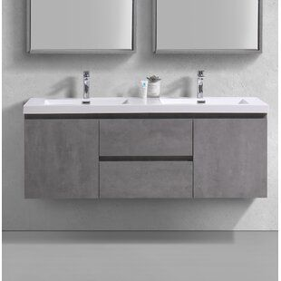 Tenafly 72 Wall Mount Double Bathroom Vanity Set Allmodern Double Vanity Bathroom Vanity Bathroom Vanity