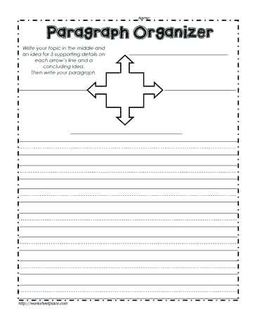 Paragraph Organizer Blank Writing Worksheets Copying Sentences For