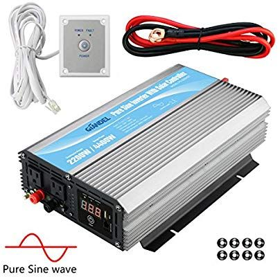 Giandel 2200w Pure Sine Wave Power Inverter 12v Dc To 120v Ac With 20a Solar Charge Control And Remote Control Led Display A Power Inverters Rv Truck Sine Wave