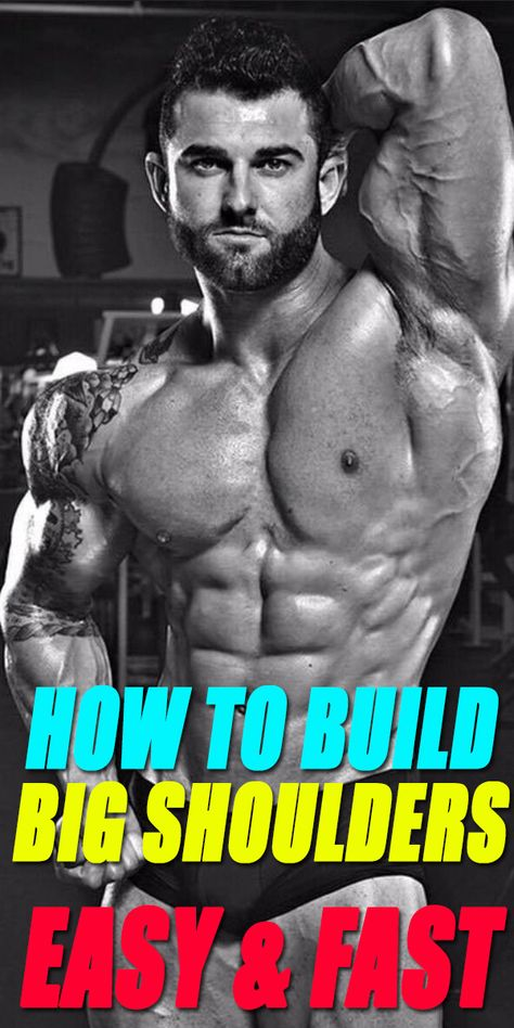 How To Build Big Shoulders Fast Abs Bodybuilding Fitness Fitness Workout Gym Six Pack Wo Big Shoulders Total Body Workout Dumbbell Shoulder Press