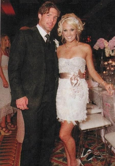Carrie Underwood's Second Wedding Dress for the Reception #celebrityweddings #fashion