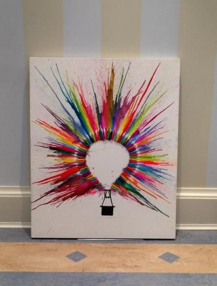 Painting Canvas Diy Melting Crayons 17+ Ideas For 2019 #diy #painting