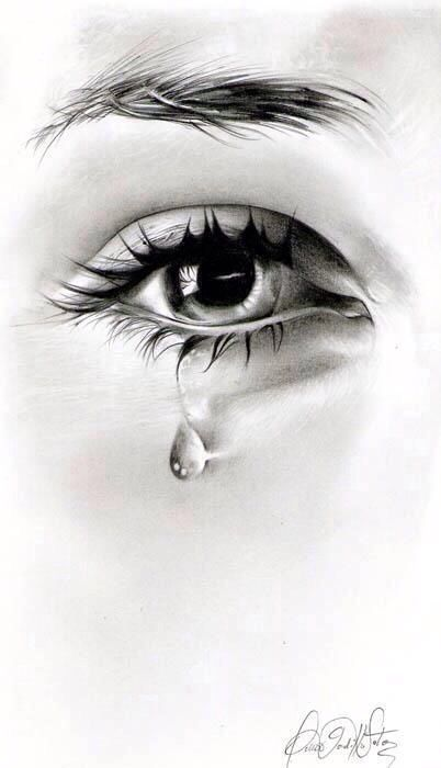 Drawing Of An Eye Crying : drawing, crying, Tears, Don't, Maybe, Beautiful, Drawing,, Crying
