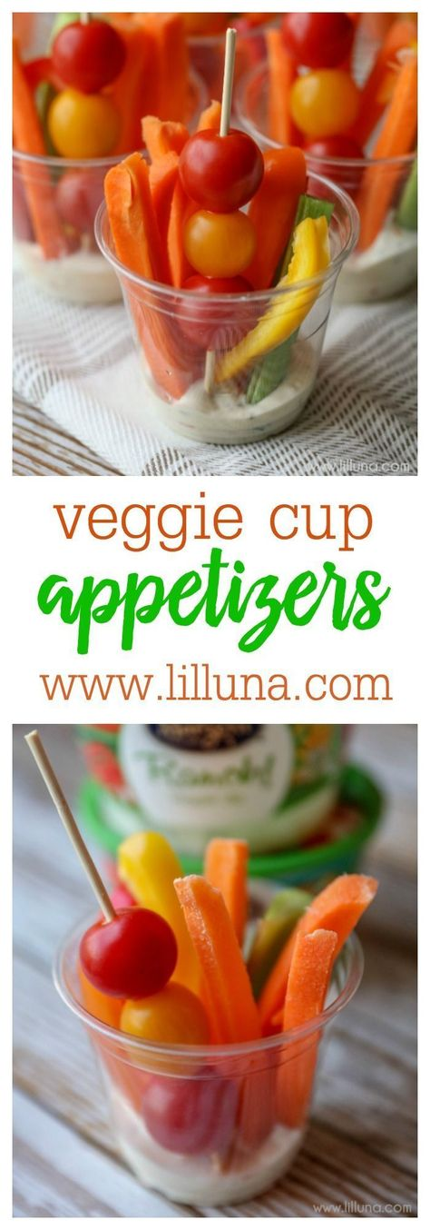 Photo of Veggie Cup Appetizers {Delicious & Kid Friendly} | Lil' Luna