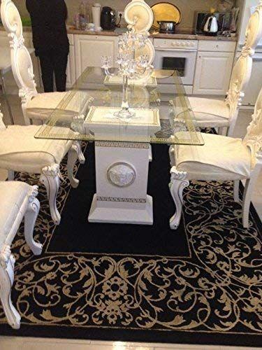 Medusa Tisch Designer Esstisch Glastisch Esstisch Maander Barock Saulen Wohntisch 6035 K 108 Versa Amazon De Kuche H Glastisch Esstisch Glastische Esstisch
