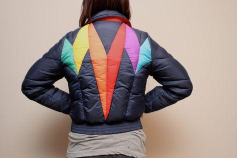 Reversible Down Jacket DOLOMITE Ski Jacket 80s Warm Teal Coat Winter Oversized Puffy Jacket Women White Jacket Vintage Clothing size Medium