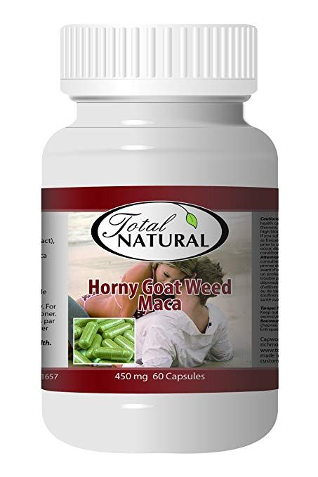 Horny Goat Weed With Maca 450mg 60 Capsules 12 Bottles By Total