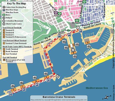 Mapas Turisticos De Monumentos Em Barcelona Espanha Mapa