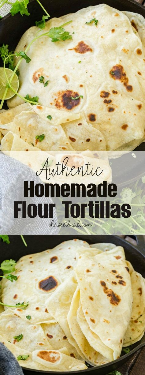 Homemade flour tortillas are easier to make than you think! We have 3 simple secrets that will have you cranking out the most deliciously soft and tender tortillas! Uncooked Tortillas, Recipes With Flour Tortillas, Homemade Flour Tortillas, Quick Flour Tortilla Recipe, Making Tortillas, Yeast Bread Recipes, Quick Bread Recipes, Cooking Recipes, Kitchen Recipes