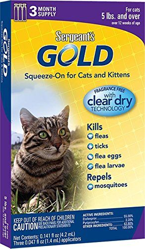 Cat Shampoo Kit Sergeant S Gold Flea And Tick Squeeze On Cat