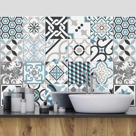Ps00054 Oslo Adhesive Decorative A Carreaux Pour Salle De Bains