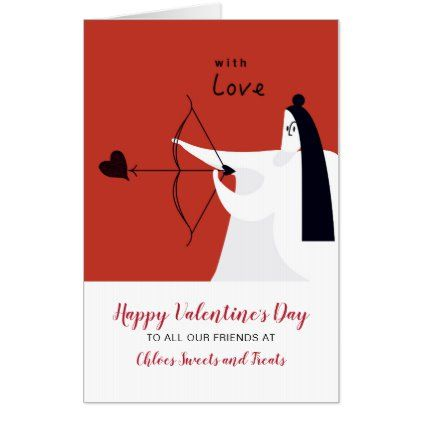 Archer Shoots At Heart Customer Valentines Card Zazzle Com Valentines Cards Big Valentine Cards Valentines Day Messages