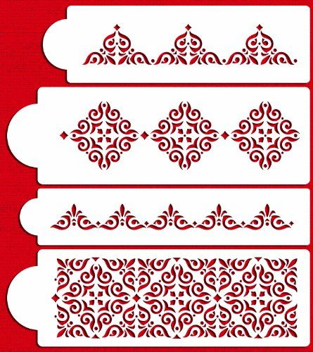 Designer Stencils C540 Mexican Tile Cake Stencil Set Beigesemitransparent Click Image To Review More Details It Cake Stencil Tile Stencil Stencil Designs