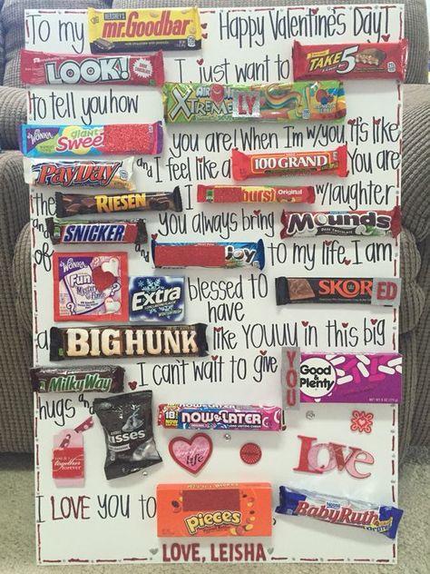 Candy gram card for my boyfriend