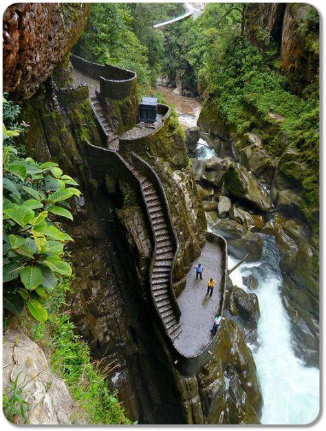 Canyon Steps Pailon Del Diablo Ecuador