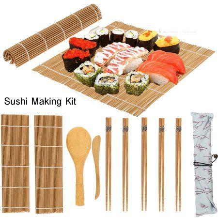 Free Shipping Buy Eecoo 13pcs Set Bamboo Sushi Making Kit Family Office Party Homemade Sushi Gadget For Food Lovers Sush Sushi Kit Homemade Sushi Bamboo Sushi