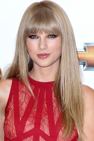 Taylor Swift Long Blonde Hairstyles Bangs Long Hair Styles Straight Hairstyles Hair Styles