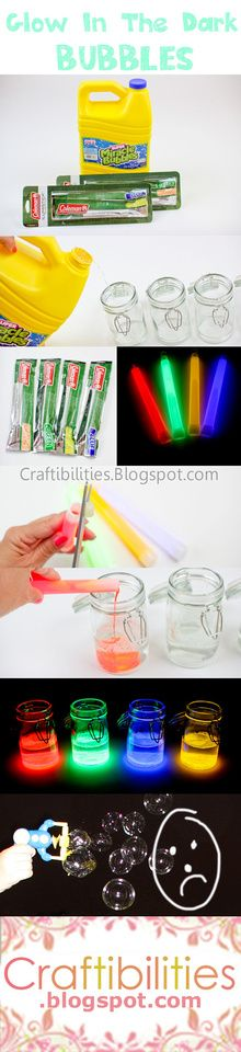Craftibilities: Ready - Set - GLOW! - Glow-in-the-Dark BUBBLES