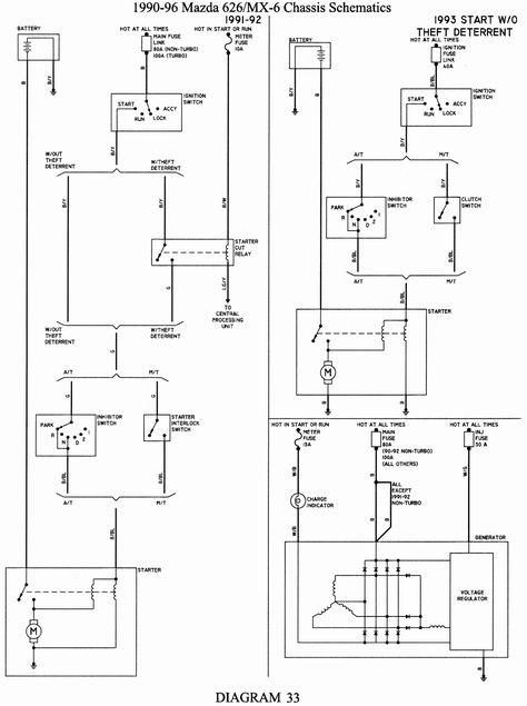 1991 Mazda 626 Wiring Diagram Schematic