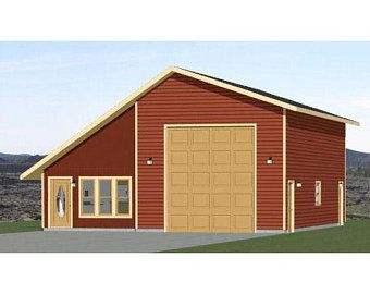 56x48 2 Rv Garage 2 Bedroom 1 Bath 2649 Sq Ft Pdf Etsy In 2020 Rv Garage Garage With Living Quarters Shed Building Plans