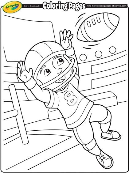 Football Coloring Page   Free Coloring Pages   Pinterest   Football ...
