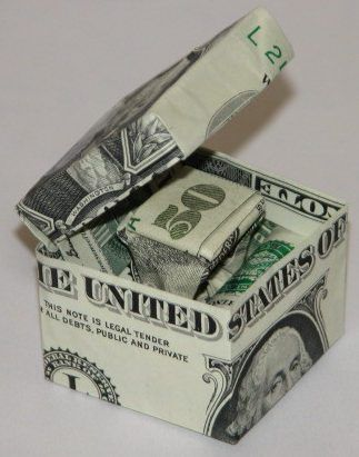 50 Ideas origami money ring dollar bills for 2019 Origami Star Box, Origami Love, Origami Fish, Origami Design, Origami Paper, Origami Things, Origami Turtle, Dollar Bill Origami, Money Origami
