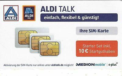 Details Zu Aldi Talk Sim Karte Starter Set Inkl 10 Guthaben Neu Ovp Aldi Sim Karte Aldi Talk