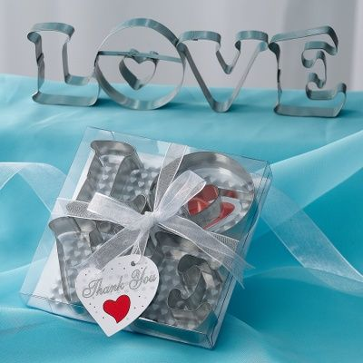 LOVE Cookie Cutters Wedding Favor