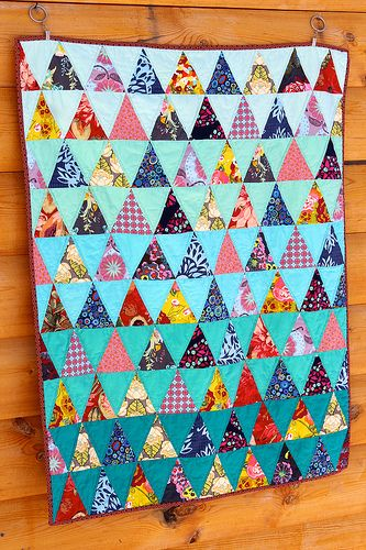 Triangle Baby Quilt by CoraQuilts