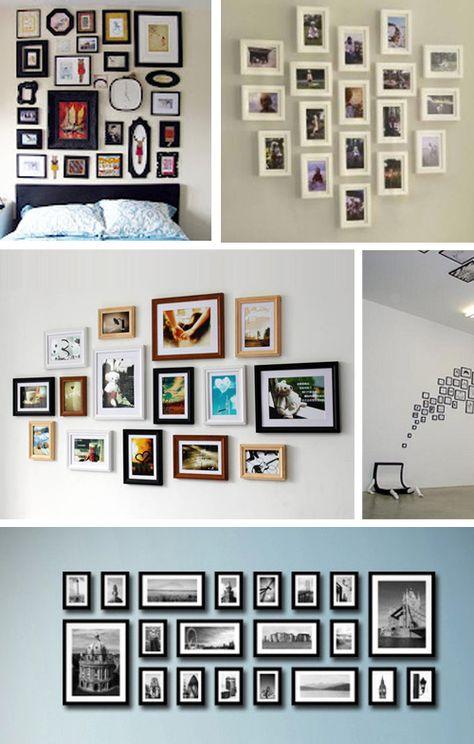 Hölzerne Foto Bilderrahmen Wand Collagen Foto Bilderrahmen Wand