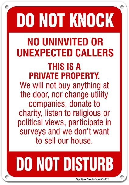 Keep Door Closed Sign 10x7 Rust Free40 Aluminum UV Printed Easy to Mount Weather Resistant Long Lasting Ink Made in USA by SIGO SIGNS