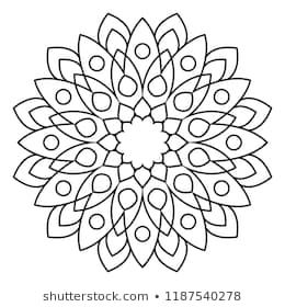 Basic And Simple Mandala Coloring Page Easy Mandala Pattern On Black And White Background Rock Painting Patterns Mandala Coloring Pages Mandala Coloring