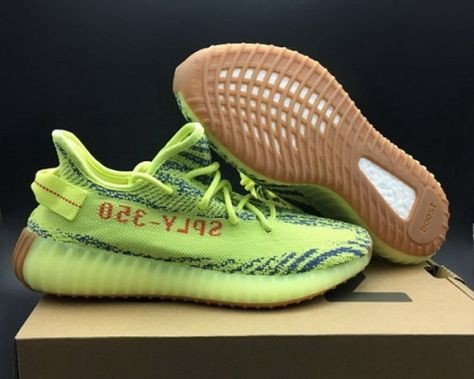 New adidas Yeezy Boost 350 V2 Semi Frozen Yellow Raw Steel