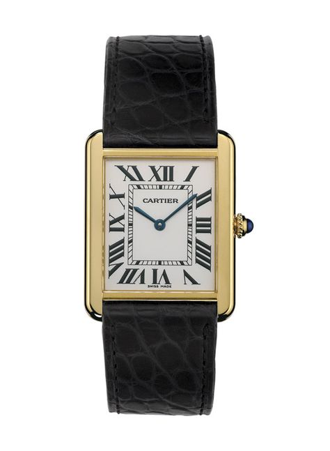 Cartier montre Tank Solo http://www.vogue.fr/joaillerie/shopping/diaporama/montres-carrees-horlogerie/20947/image/1109152#!cartier-montre-tank-solo
