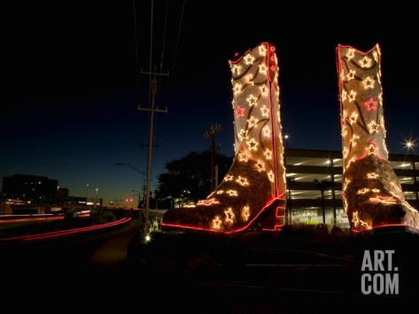 World's Biggest Cowboy Boots Sculpture by Bob 'Daddy O' Wade
