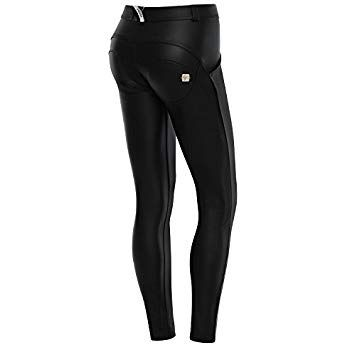 Freddy WR.UP ECO Leather Effect Skinny - Womens Fitted Black Tight Pants