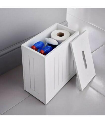 Mrs Hinch White Shaker Slimline Mdf Multi Purpose Bathroom Storage Unit In 2020 White Bathroom Storage Bathroom Storage Units Bathroom Storage Boxes