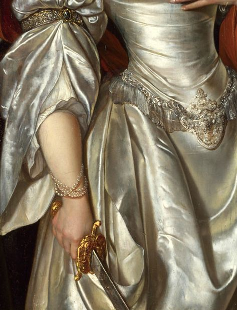 detailsofpaintings: Eglon Van der Neer, Judith (detail) About 1678 – Art Renaissance Kunst, Foto Portrait, Princess Aesthetic, Classical Art, Detail Art, Old Art, Aesthetic Art, Fashion History, Art Inspo