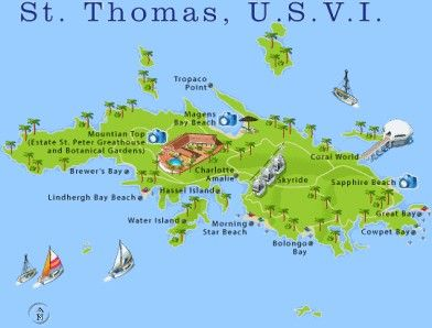 St Thomas Map Usvi At The East End Of Red Hook Village Is A ...