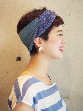 ヘアバンドを使ったヘアスタイルがかわいい 長さ別スタイル集